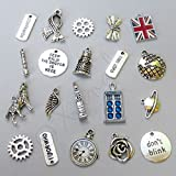 OutletBestSelling Pendants Beads Bracelet Doctor Who Tardis, Dalek, Time Lord Charms 20PCs Mix