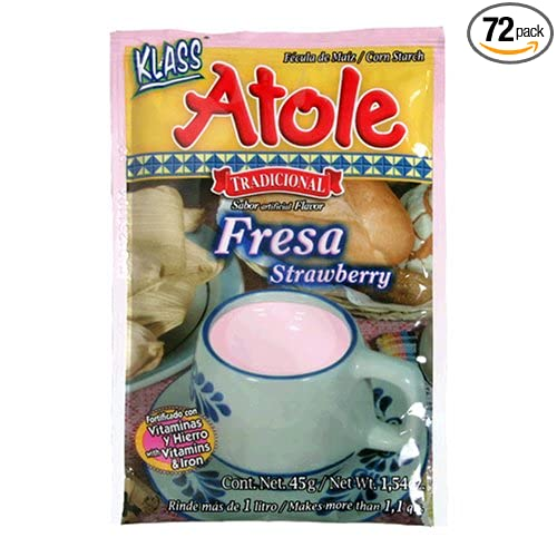 Amazon.com : Klass Atole Strawberry Mix, 1.58-Ounce Packets (Pack of 72) : Powdered Soft Drink Mixes : Grocery & Gourmet Food