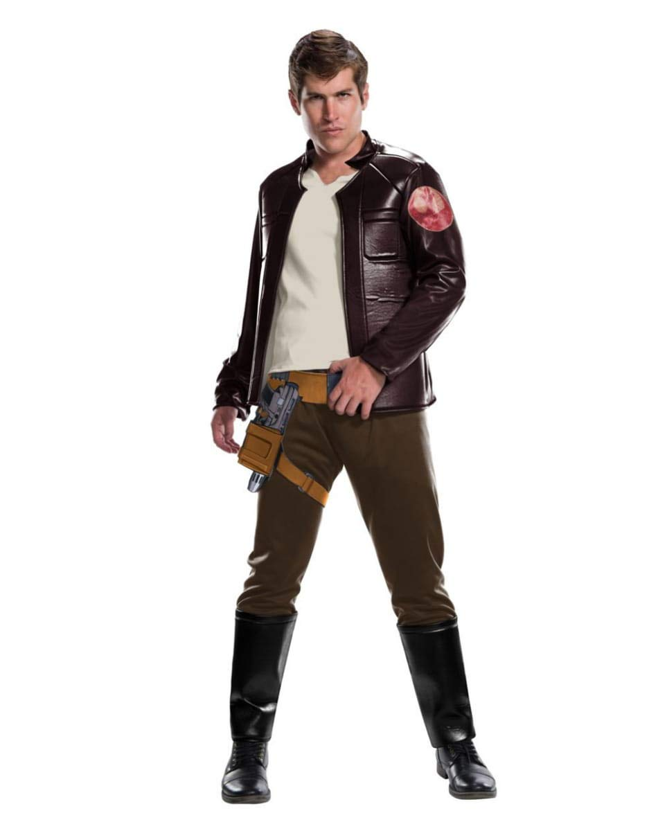 One Taille Horror-Shop Star Wars Poe Dameron Costume Poe Dameron Deluxe One Taille
