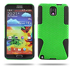RC - Grid With Silicone Back Case Cover For Samsung Galaxy Note 3 N9000 (Assorted Colors) , White