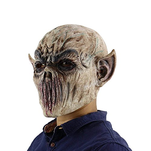 Scary Halloween Monster Masks (MICG Halloween Zombie Mask Scary Alien Bloody Monster Masks Cosplay Props For Masquerade Costume)