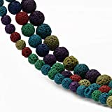 Yochus 6mm Mixed Color Volcanic Lava Loose Stone