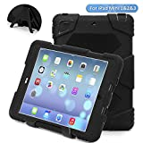 ACEGUARDER Ipad Mini Case,Ipad Mini 2 Case,Ipad Mini 3 Case, Mini Ipad Case for kids Rainproof Shockproof Anti-Dirt Drop Resistance Case or Apple iPad Mini 3/2/1 (BLACK)