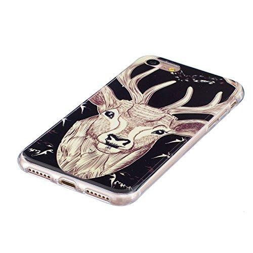 """iPhone 7 Plus Schutzhülle , LH Hirsch TPU Weich Muschel Tasche Schutzhülle Silikon Hülle Schale Cover Case Gehäuse für Apple iPhone 7 Plus 5.5"""""""