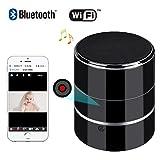 Bluetooth Music Player – HD 1080P WIFI Hidden Camera – Wireless Stereo Speaker Spy Cam – Mini Nanny Cameras – Motion Detection Alarm – Up to 128G