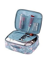 wonderfulwu Portable Cosmetic Bag Cosmetic Case Wash Bag Toiletries Organizer Kit for Lady