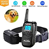 Fettish Dog Training Collar Rechargeable Rainproof 330 YD Remote Dog Shock Collar No Barking with LED Light/Beep/Vibration/Shock Safe Electronic Collar for Small Medium Large Dogs