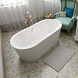 Freestanding Bathtub BATH MASTER Soaking Bathtub Acrylic Contemporary with Chrome Overflow and Drain (59