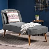 Jolie Mid Century Modern Slate Grey Fabric Chaise Lounge Review