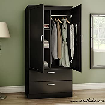 Amazon.com: Organizer Dresser Huntington Armoire Wardrobe Closet ...