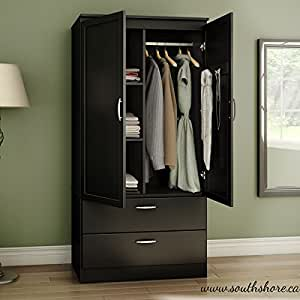 Organizer dresser huntington armoire wardrobe closet wood cabinet storage bedroom for Bedroom armoire with tv storage