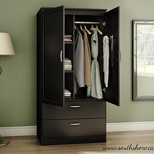organizer dresser huntington armoire wardrobe closet wood. Black Bedroom Furniture Sets. Home Design Ideas