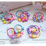 Cuhair(tm) Girl Baby 50pcs (10pcs/style) Scrunchie Elastic Hair Band Ponytail Holder Tie Accessories