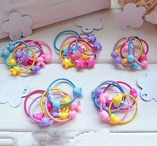 Cuhair(TM) Baby Girl 50pcs (10pcs/style) chouchou élastique bande Ponytail titulaire Tie accessoires pour cheveux