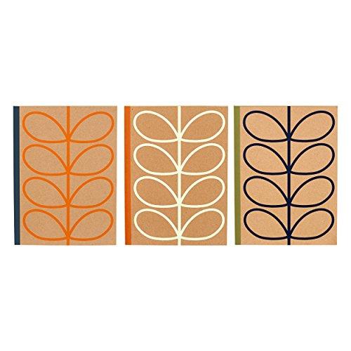 - Orla Kiely Large Linear Stem Notebook (Pack of 3)