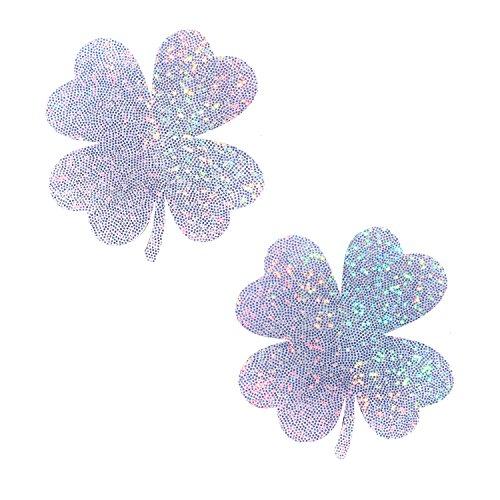 Neva Nude Kiss Me I'm Irish Lucky Charm Holographic Nipztix Pasties Nipple Covers