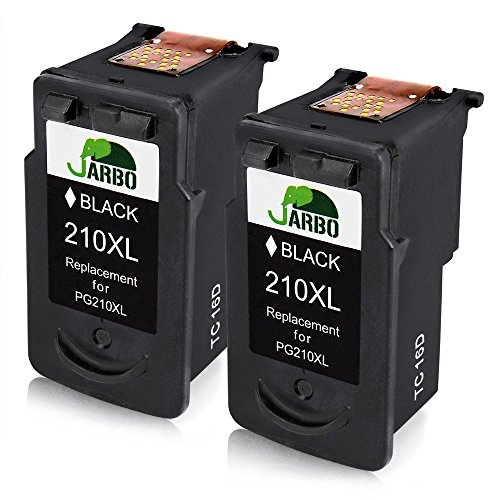 JARBO Remanufactured Canon PG-210XL Ink Cartridge High Yield,2 Black with Ink Level Display Used in Canon PIXMA MP495 IP2702 MP230 MP240 MP250 MP280 MP480 MP490 MP499 MX330 MX340 MX350 MX410 MX420