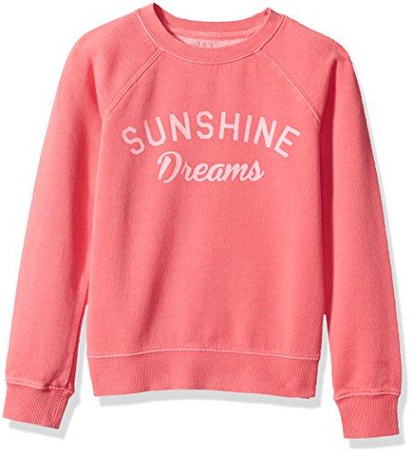 Billabong Girls' Big Whole Heart Sweatshirt, Vintage Coral, XXS