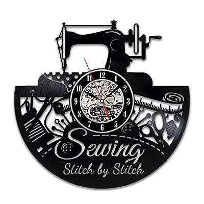 Sewing Wall Clock Room Sign Equipment Set Software Machine Ornament Ideas Quoted Design Decor Vinyl Decorations Art Thimble
