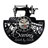Sewing Wall Clock Room Sign Equipment Set Software Machine Ornament Ideas Quoted Design Decor Vinyl Decorations Art Thimble Review