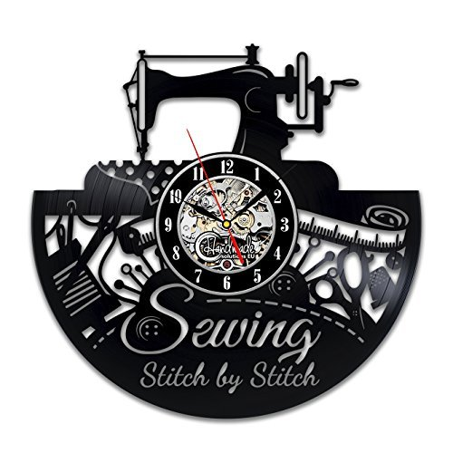 Sewing Wall Clock Room Sign Equipment Set Software Machine Ornament Ideas Quoted Design Decor Vinyl Decorations Art Thimble