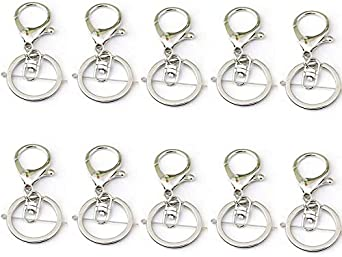 5//10pcs Silver Swivel Trigger Clips Snap Lobster Clasp Hook Bag Key Ring Finding