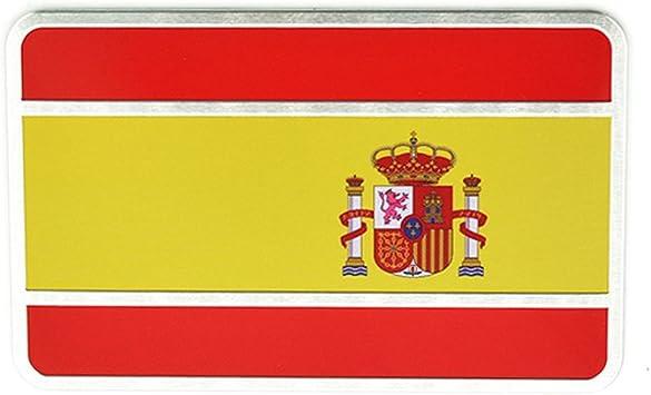 Generic cromo España Bandera nacional adhesivos Pegatina para coche Accesorios metal badge Auto Emblema decorativo: Amazon.es: Coche y moto