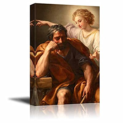 Alluring Artisanship, The Dream of St Joseph by Anton Raphael Mengs Print Famous Oil Painting Reproduction, Professional Creation