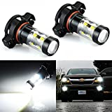 JDM ASTAR Extremely Bright Max 50W High Power PSX24W 2504 LED Bulbs for DRL or Fog Lights, Xenon White