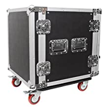 Seismic Audio-12 Space Rack Case for Amp Effect Mixer PA DJ Pro with Casters
