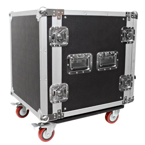 Seismic Audio - 12 SPACE RACK CASE for Amp Effect Mixer PA DJ PRO with Casters by Seismic Audio