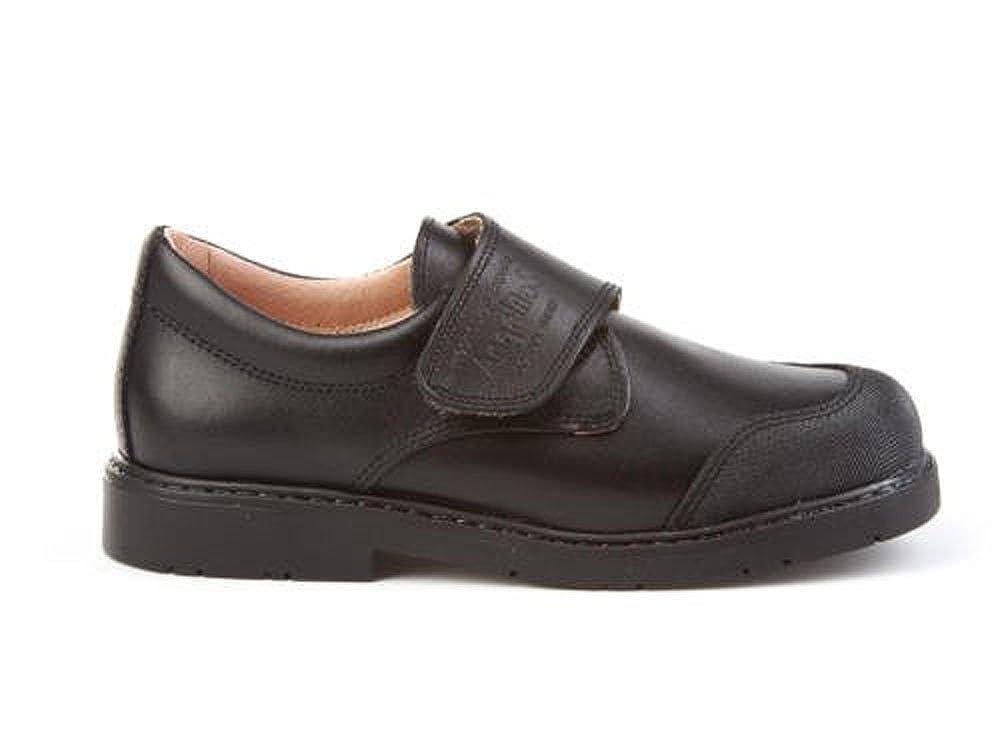 ANGELITOS Zapatos Colegiales con Puntera Reforzada Todo Piel, Mod.452. Calzado Infantil (Talla 22 - Negro): Amazon.es: Zapatos y complementos