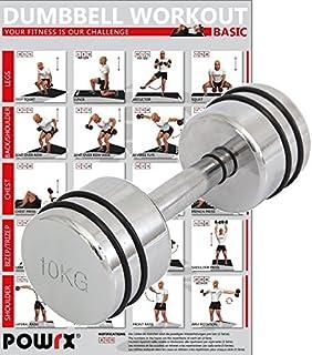 POWRX Mancuernas cromadas de 1 a 10 kg - Ideal para Functional ...