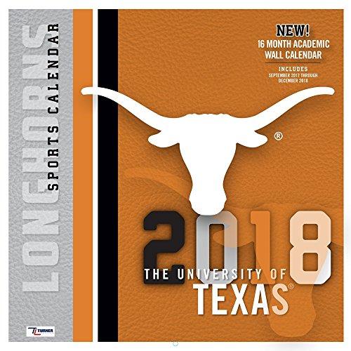 2018 Texas Longhorns Wall Calendar (Texas Longhorns Rose)