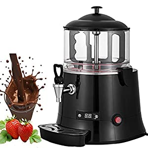 VEVOR 400W Commercial Hot Chocolate Machine Beverage Dispenser 5 Liter Hot Chocolate Maker & Milk Frother 110V Beverage Dispenser Machine for Restaurants Bakeries Cafes (5 Liter)
