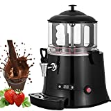 VEVOR 400W Commercial Hot Chocolate Machine Beverage Dispenser 5 Liter Hot Chocolate Maker & Milk Frother 110V Beverage Dispenser Machine for Restaurants Bakeries Cafes (5 Liter)