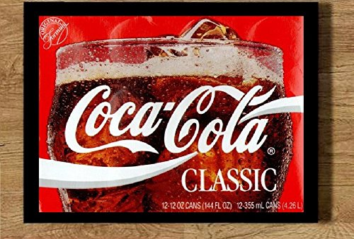 Quadro com moldura 21x30cm Coca Cola classic