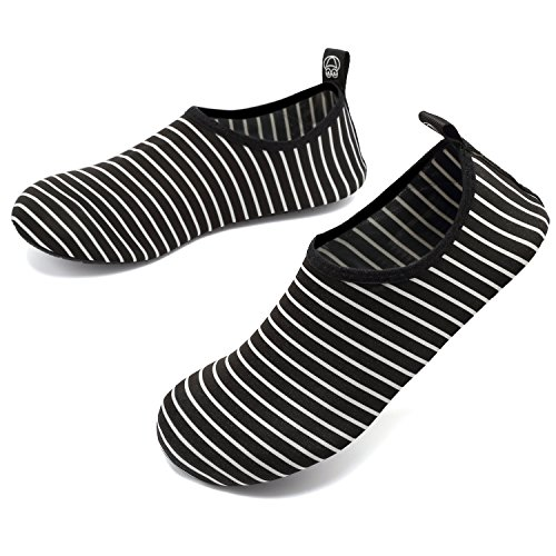 Kids Water Shoes Men On Yoga Barefoot Slip Aqua Blackstripes Dry Socks Sports For VIFUUR Quick Women B6xCFdqqw