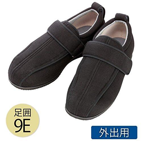 介護シューズ 介護靴 外出用 あゆみ シニア ケアフルIII 9E 黒 7043(4Lサイズ) B01N0IHJ3B 4Lサイズ  4Lサイズ