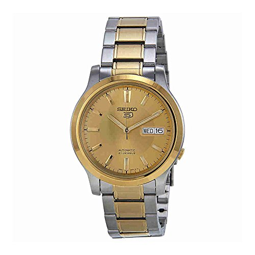 Seiko Men's SNK792 Seiko 5 Automatic Gold Dial Two-Tone Stainless Steel Watch ()