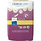 NATRACARE - Maxi Pads Night Time - Comfortable and Extremely Absorbent - Without Plastics, Perfume and Chlorine - Highly Boasting - Vegan and Biodegradable - 10 pcs