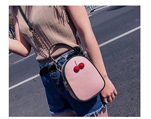 Sac Petite Nouveau Simple Et Couche Place Épaule Mode Adorable GWQGZ De Tendance Femmes Sac Chain Trois Rose Pink 60pwqp