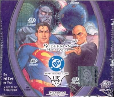 Upper Deck SuperMan Man of Steel VS. System Unlimited Booster Box (24 packs...
