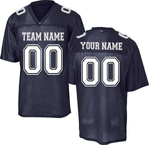 (Custom Replica/Practice Football Jersey (Unisex, Youth/Adult) - Add Your Team, Name, and Number)
