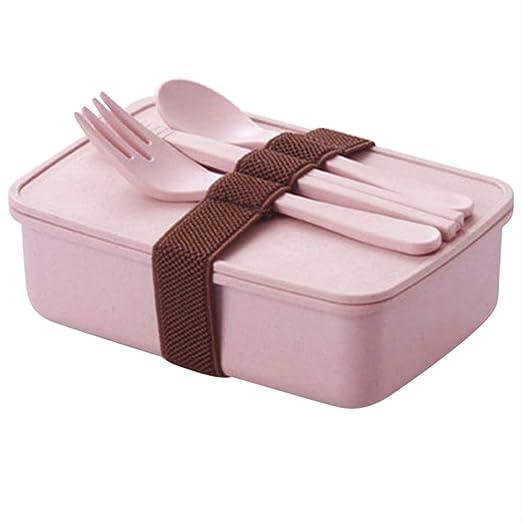 Caja de almuerzo portátil color caramelo Contenedor de ...