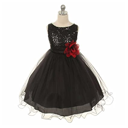 Fuibo Girl Dress Princess Formal Party Dress Children Bling Sequins  Sleeveless Tutu Princess Evening Dress Outfits Clothes Gift For Girl:  Amazon.co.uk: ...