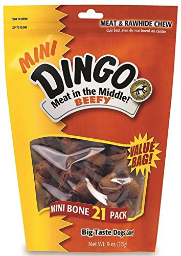 (Dingo Brand Beefy Mini 21 Pack Value Bag)