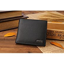 (BLACK) style 100% genuine leather hasp design men's wallets with coin pocket fashion brand quality purse wallet for men