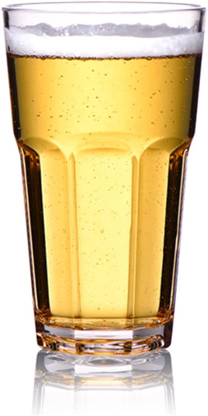 Kuke - Juego de 4 vasos de plástico irrompibles, 100% cerveza ...