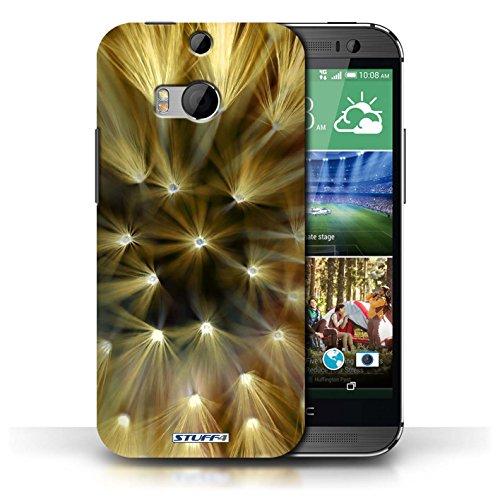 Etui / Coque pour HTC One/1 M8 / Jaune conception / Collection de Couleur/Lumière Fleur
